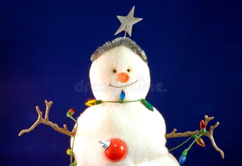 Muñeco de nieve de la Navidad del juguete imagenes de archivo