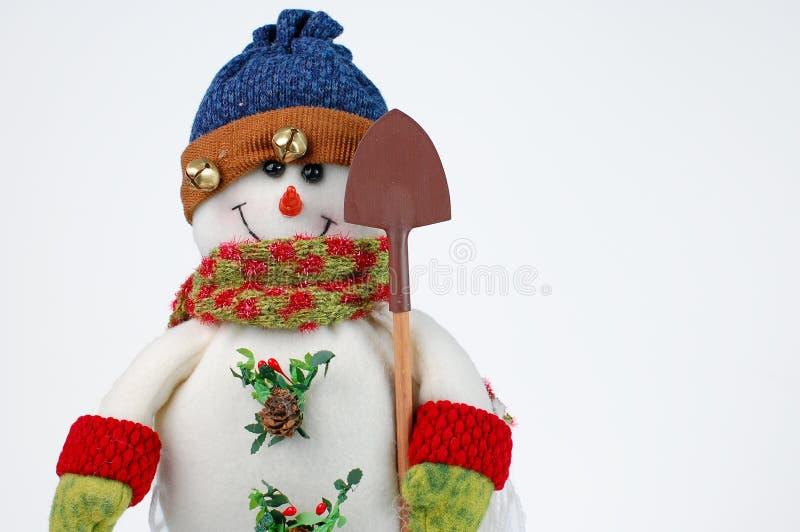 Muñeco de nieve de la Navidad en el fondo blanco fotografía de archivo libre de regalías