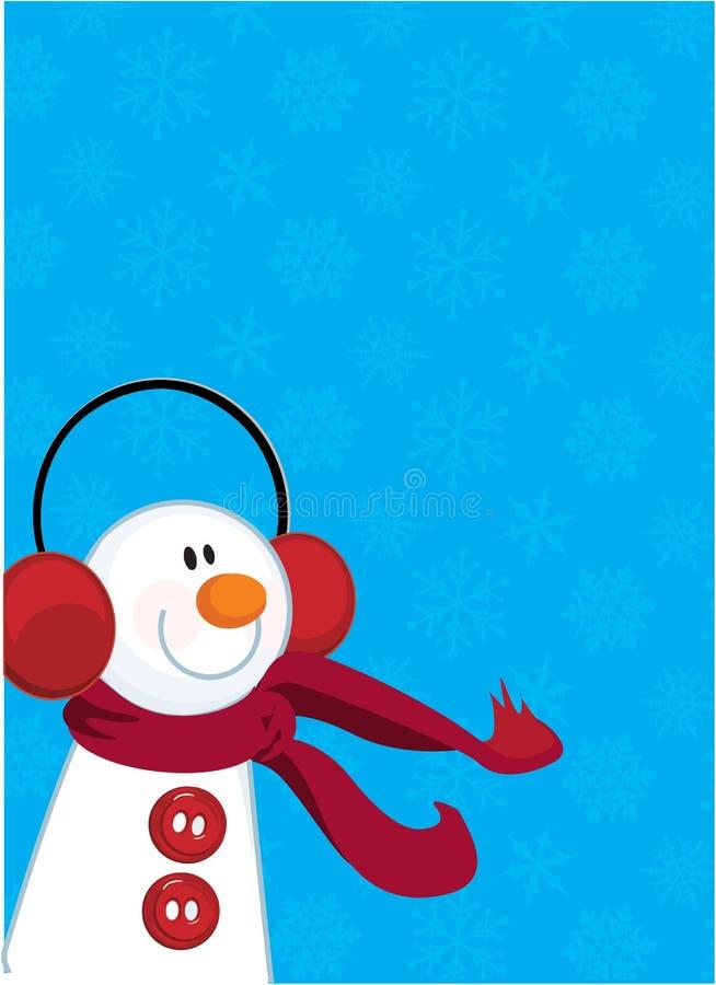 Muñeco de nieve del invierno stock de ilustración