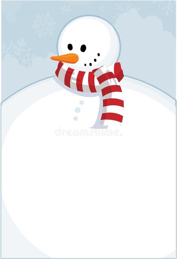Muñeco de nieve del invierno ilustración del vector