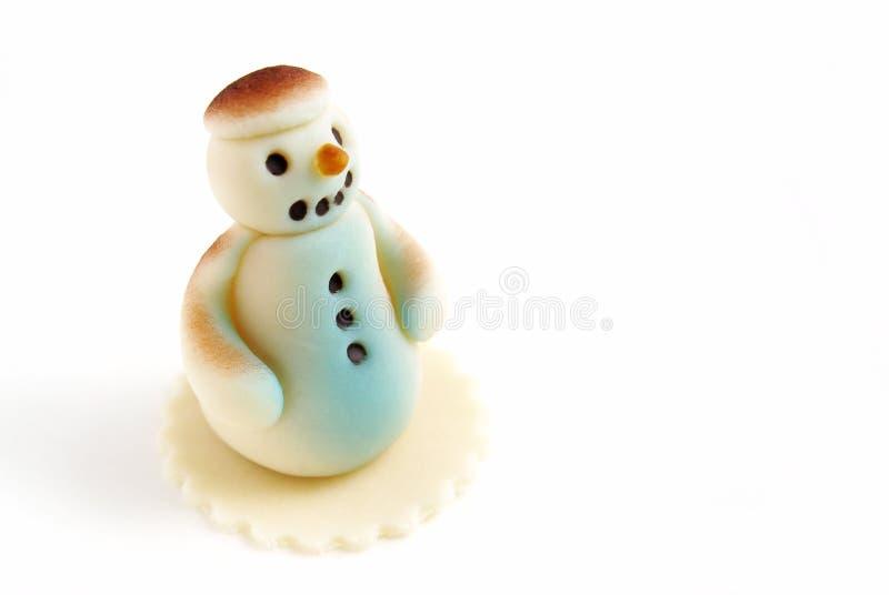 Muñeco de nieve del mazapán imagen de archivo libre de regalías