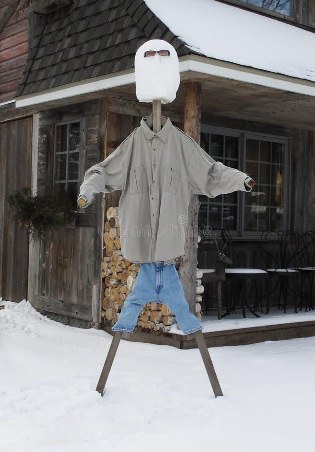 Muñeco de nieve del palillo imagenes de archivo