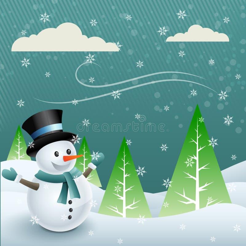 Muñeco de nieve del vector ilustración del vector