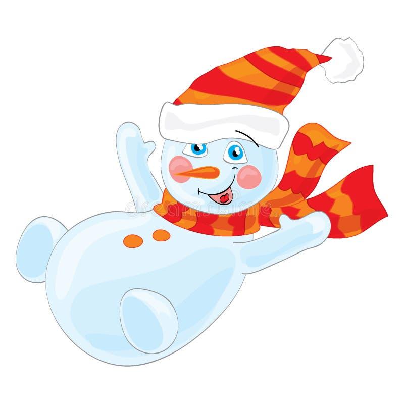 Muñeco de nieve en sombrero del invierno libre illustration