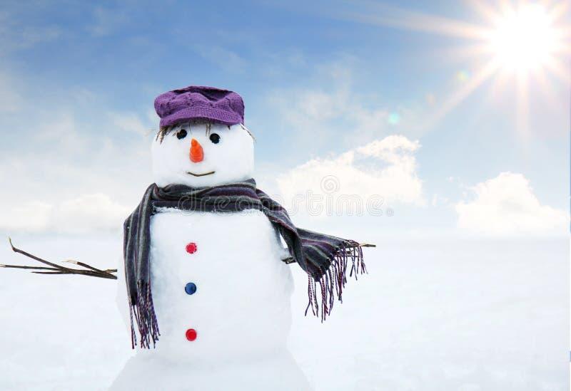 Muñeco de nieve feliz ilustración del vector