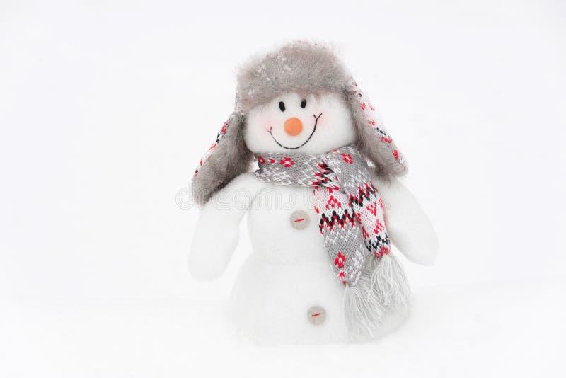 Muñeco de nieve feliz del invierno imagen de archivo libre de regalías