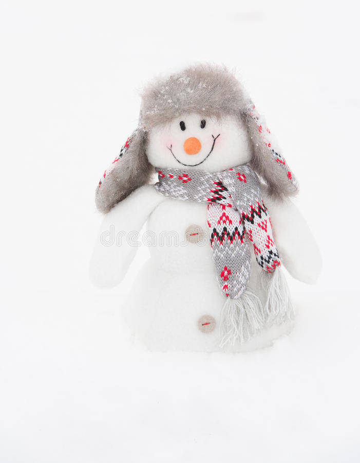 Muñeco de nieve feliz del invierno (espacio de la copia) fotos de archivo libres de regalías