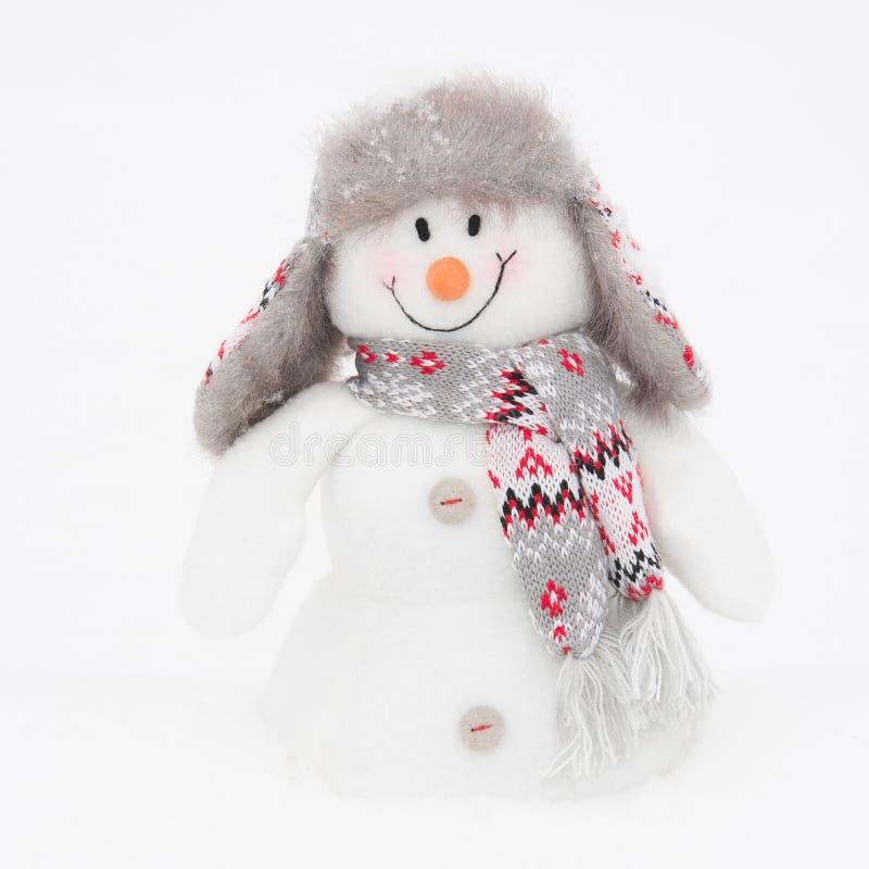 Muñeco de nieve feliz del invierno (espacio de la copia) fotos de archivo