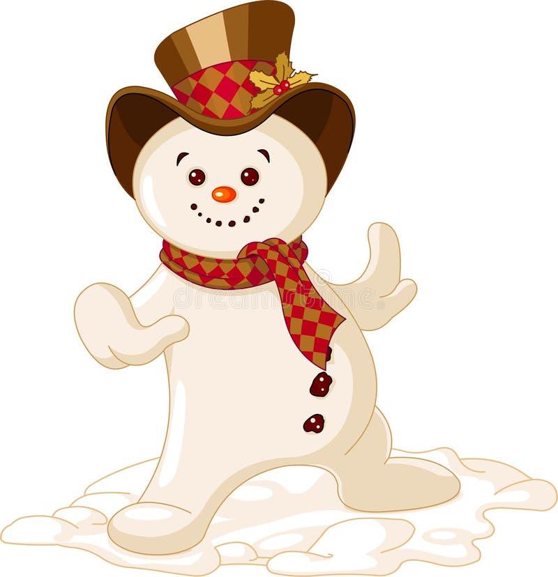 Muñeco de nieve lindo de la Navidad stock de ilustración