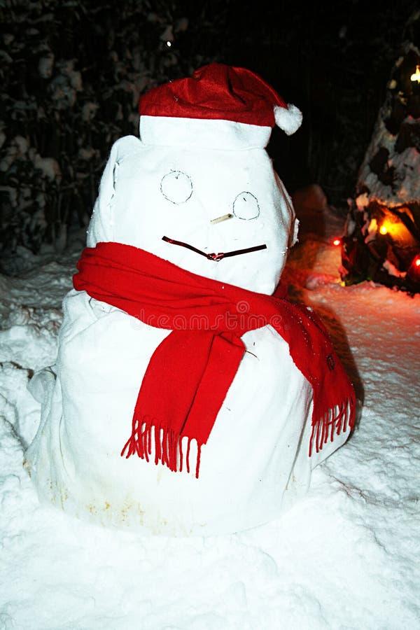 Muñeco de nieve de papel imagen de archivo