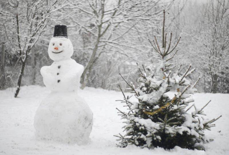 Muñeco de nieve silencioso imagenes de archivo