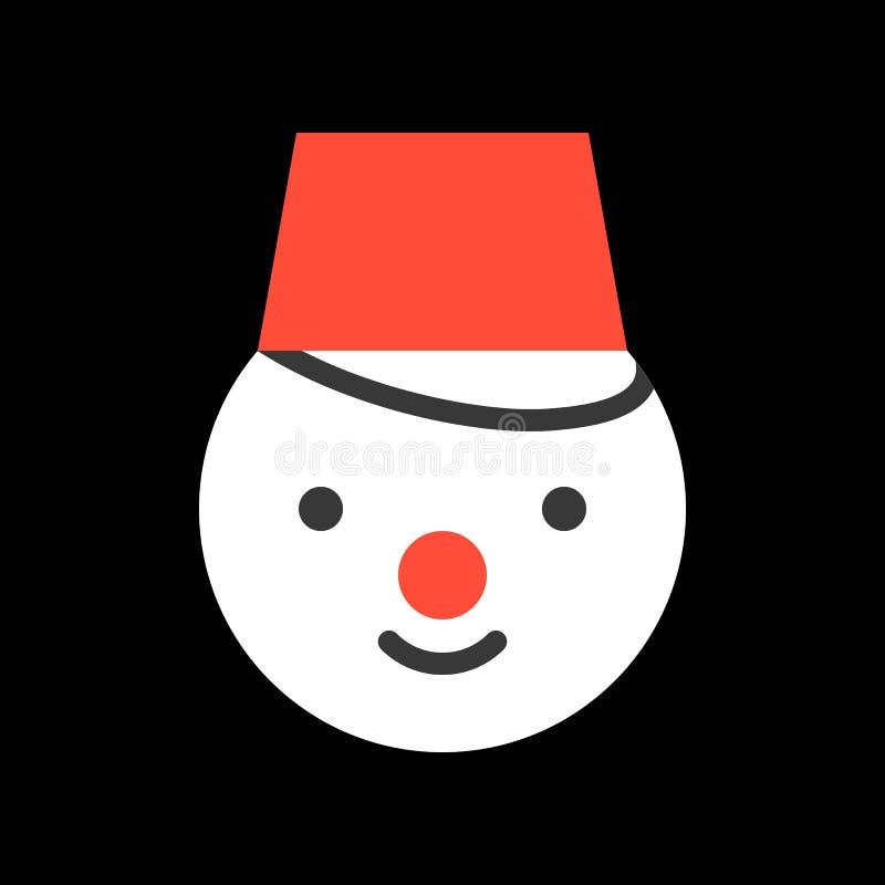 Muñeco de nieve, sistema del icono de la Feliz Navidad, diseño plano libre illustration