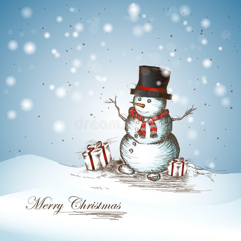 Muñeco de nieve sonriente foto de archivo