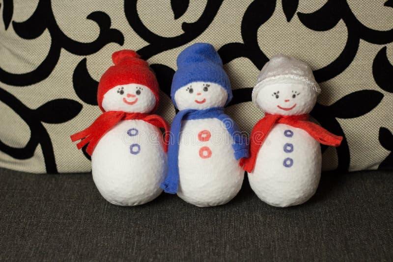 Download Muñeco De Nieve Tres Juguetes Suaves Foto de archivo - Imagen de objeto, holiday: 64206002