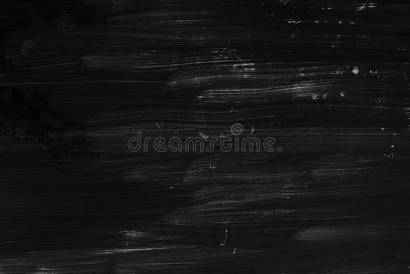 Muśnięć uderzeń wzór, czerni ścienna tekstura zdjęcia stock