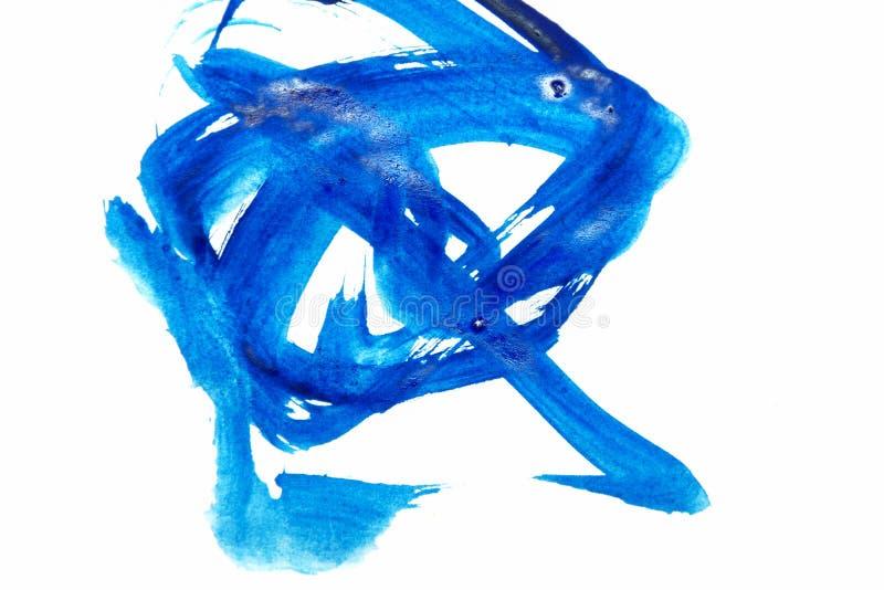 Muśnięć uderzenia błękitna farba obrazy royalty free