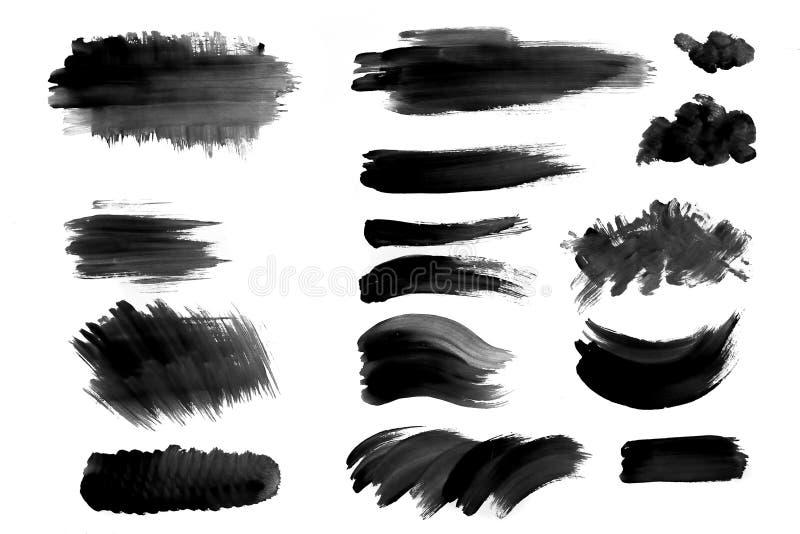 Muśnięć uderzenia z akwareli farbą na papieru muśnięcia uderzeniach z akwarelą malują na papierze ilustracja wektor