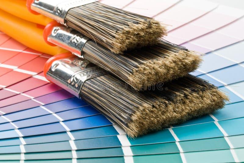 muśnięcia barwią przewdonika obrazy stock
