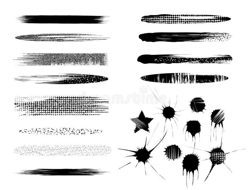 muśnięcia ustawiają ilustracji