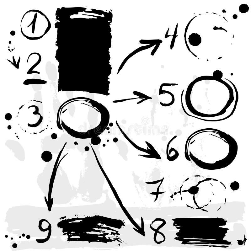 Muśnięcie muska infographics opcj sztandar Czerń na białym tle ilustracji