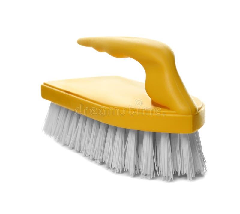 Muśnięcie na białym tle tła cleaning płótna nowe pomarańczowe gąbek dostawy obraz royalty free