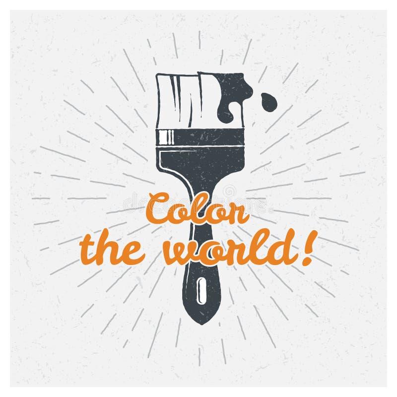 muśnięcie sztuki kolorowa zakrywająca graffiti ulicy ściana majcher Wektorowej typografii projekta plakatowy pojęcie ilustracja wektor