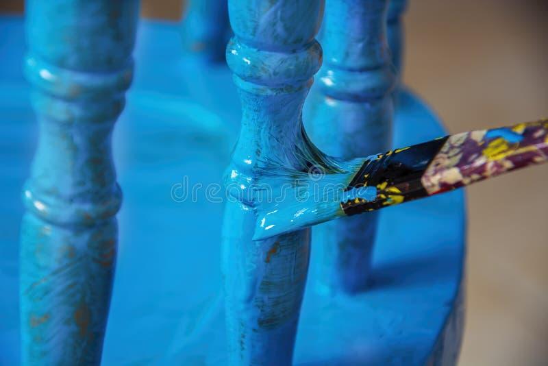 Muśnięcie z drewnianym obrazem zdjęcia stock