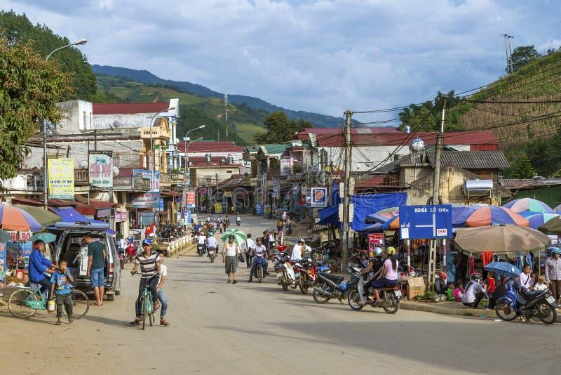 Mu Cang柴区旅行目的地在越南 免版税库存图片