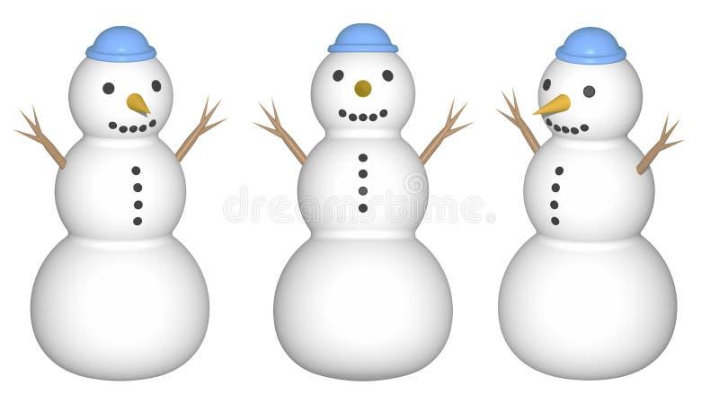 Mu?eco de nieve (rinda) libre illustration