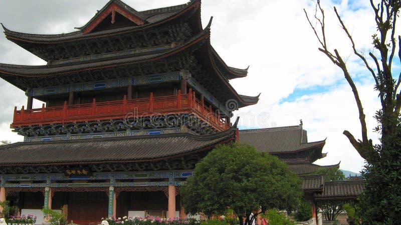 Mu Fu Herenhuis, lijiang, China stock afbeelding