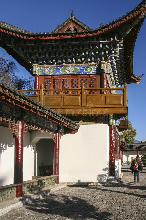 Mu fu-mansion i lijiang, Kina royaltyfri bild