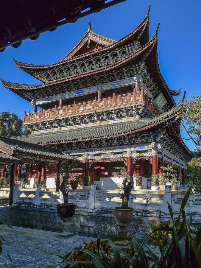 Mu fu-mansion i lijiang, Kina royaltyfri fotografi
