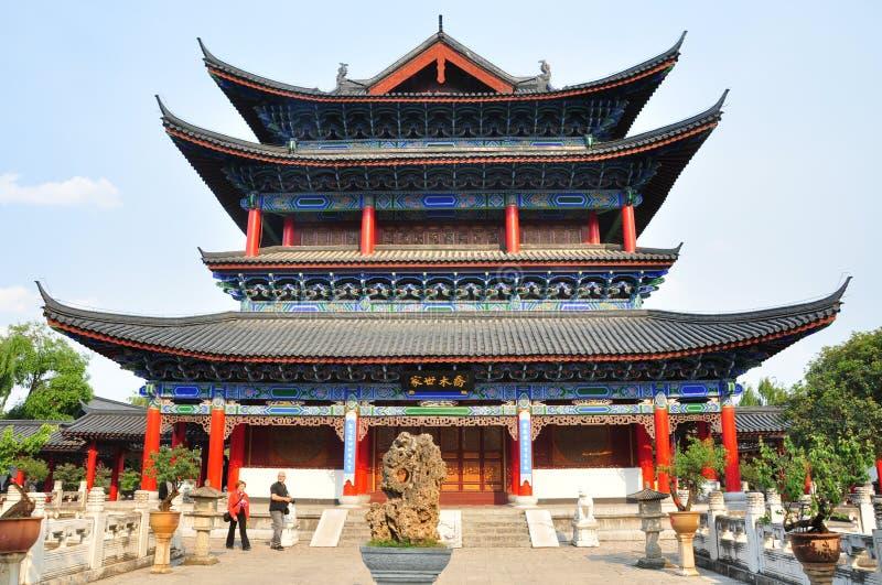Mu siedziba w Starym miasteczku Lijiang fotografia royalty free