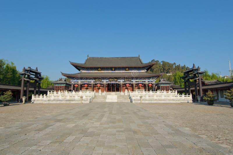 Mu-uppehåll, gammal town för lijiang, yunnan, porslin royaltyfria bilder