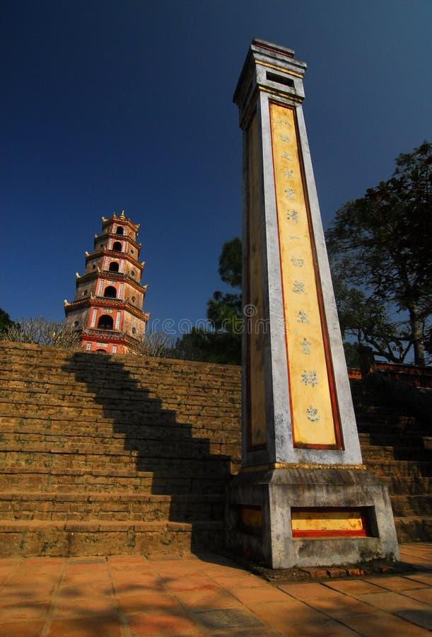 Mu van Thien pagode, Tint, Vietnam stock foto
