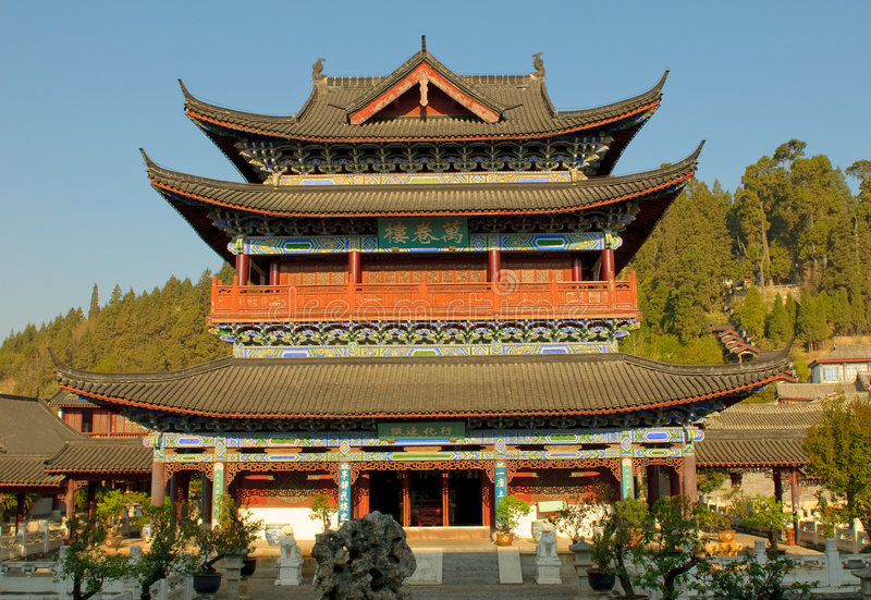 MU-Wohnsitz, lijiang alte Stadt, Yunnan, Porzellan stockfotografie