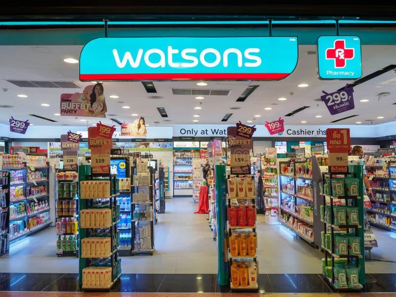 Muang, Nakhonratchasima /Thailand - 10-ое мая 2018: Магазин Watsons стоковые изображения rf