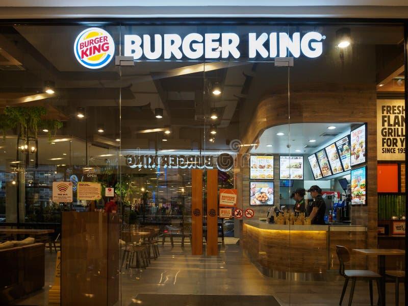 Muang, Nakhonratchasima /Thailand - 10-ое мая 2018: St Burger King стоковые фотографии rf