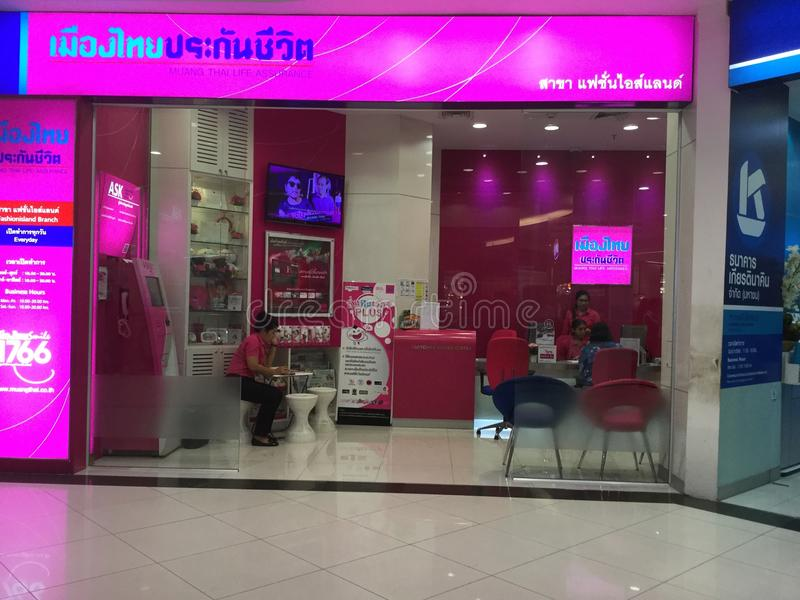 Muang Thailand Life Assurance shop. Bangkok thailand stock image