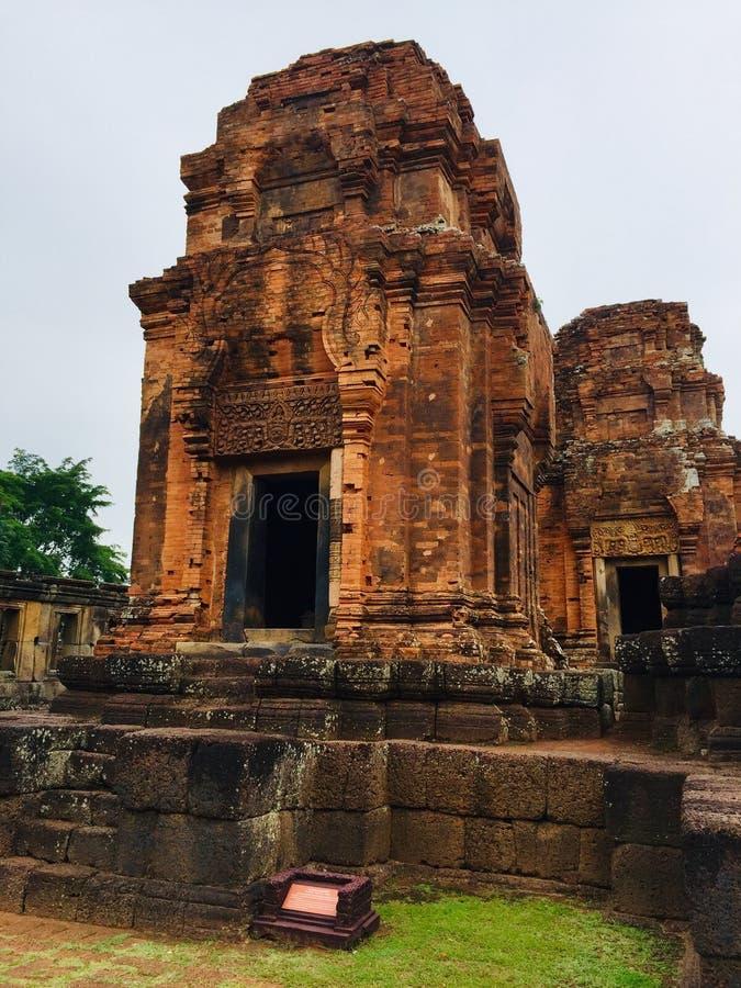 Muangtam Castle at Buriram Province, Thailand. Muangtam Castle Archaeological Site at Muangtam Sanctuary, Prakhonchai District, Buriram Province, Thailand stock photos
