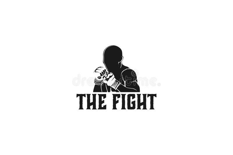 muay tajlandzka, bokserska odznaka loga projekta inspiracja Odizolowywająca Na białych tło, ilustracji