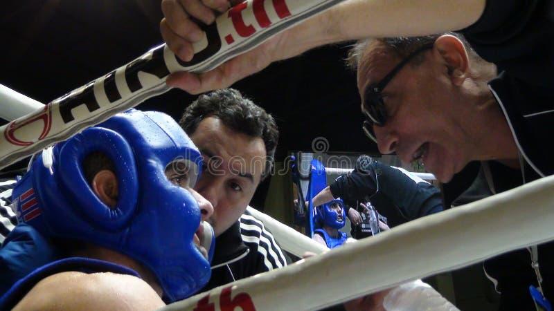 Muay Thai Combat at Boxing Stadium at Bangkok royalty free stock photos