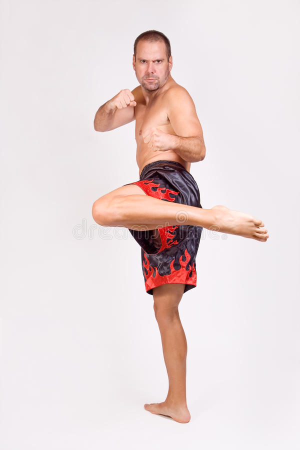 Download Muay Thai fighter stock photo. Image of kick, powerful - 22799318