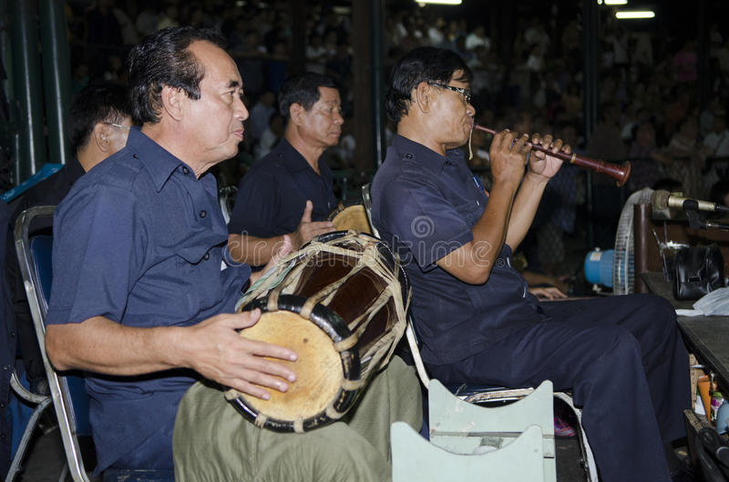 Muay Thai musicians royalty free stock photo