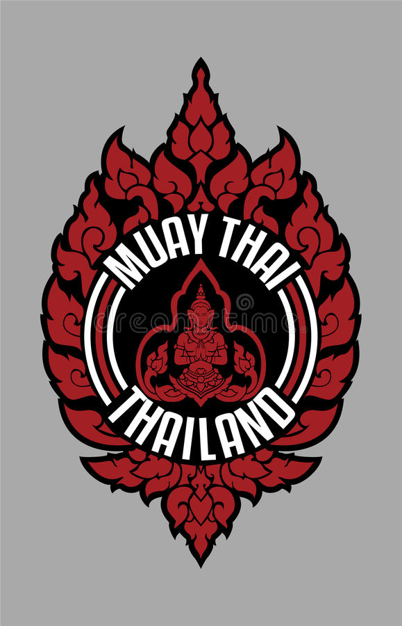 MUAY THAI TRADITIONAL BADGE THAILAND royalty free stock photography