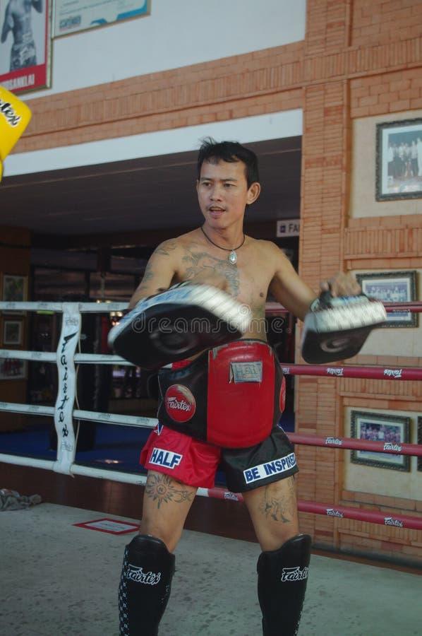 Muay Thai training at Fairtex stock photos