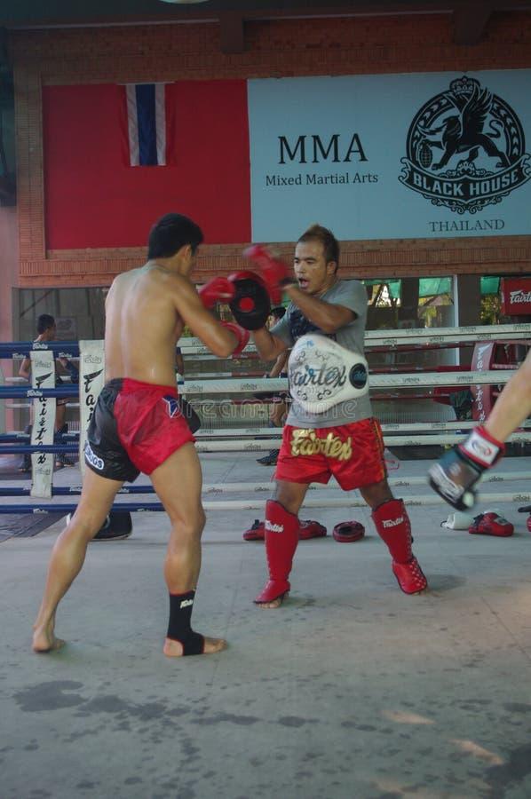 Muay Thai training at Fairtex royalty free stock photo