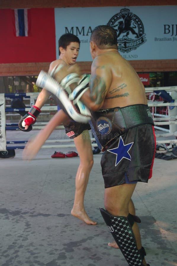 Muay Thai training at Fairtex stock photo