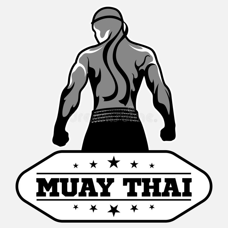 muay thai vector logo for boxing gym or other stock vector rh dreamstime com Iron Tiger Muay Thai Logo muay thai logo design