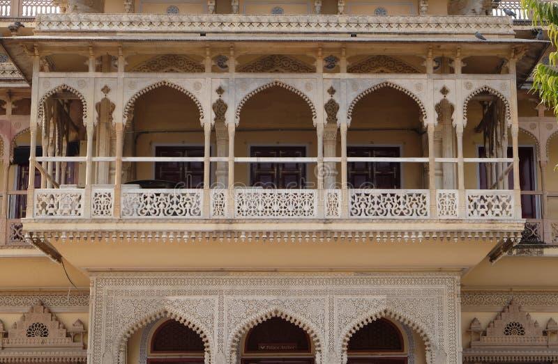 Mubarak Mahal at the City Palace, a palace complex in Jaipur stock photography